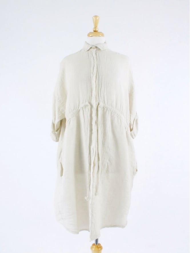 Kit and Kaboodal Made in Italy Radcot Drawstring Linen Tunic