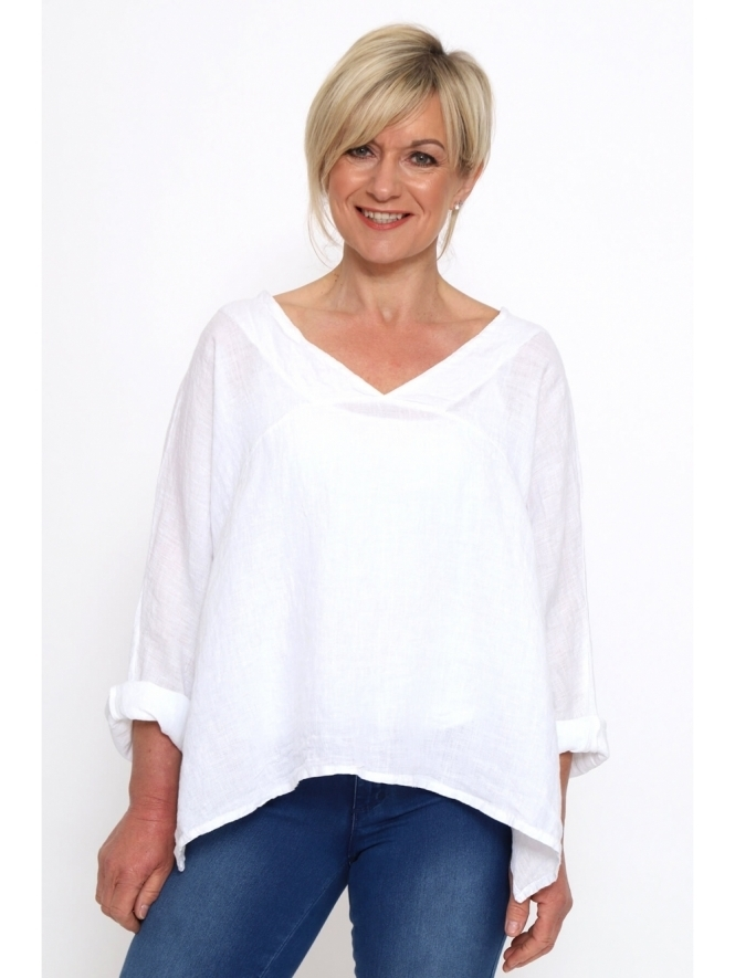 Made in Italy Rafael Washed Linen Top