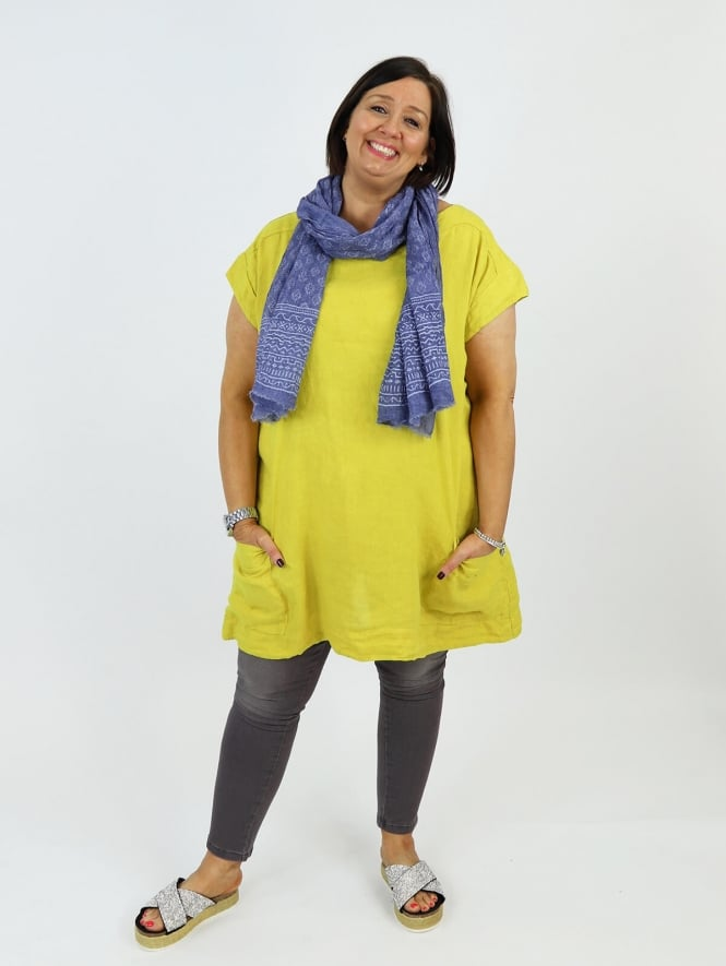 Made In Italy Ragusa Linen Tunic