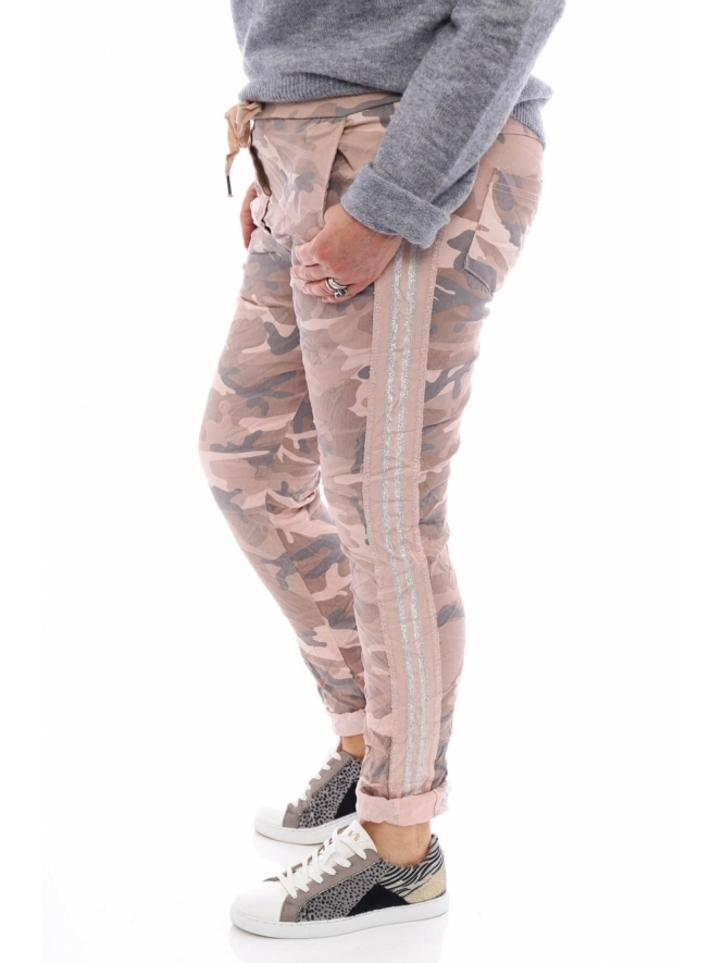 Made in Italy Rainow Camo Jersey Pants