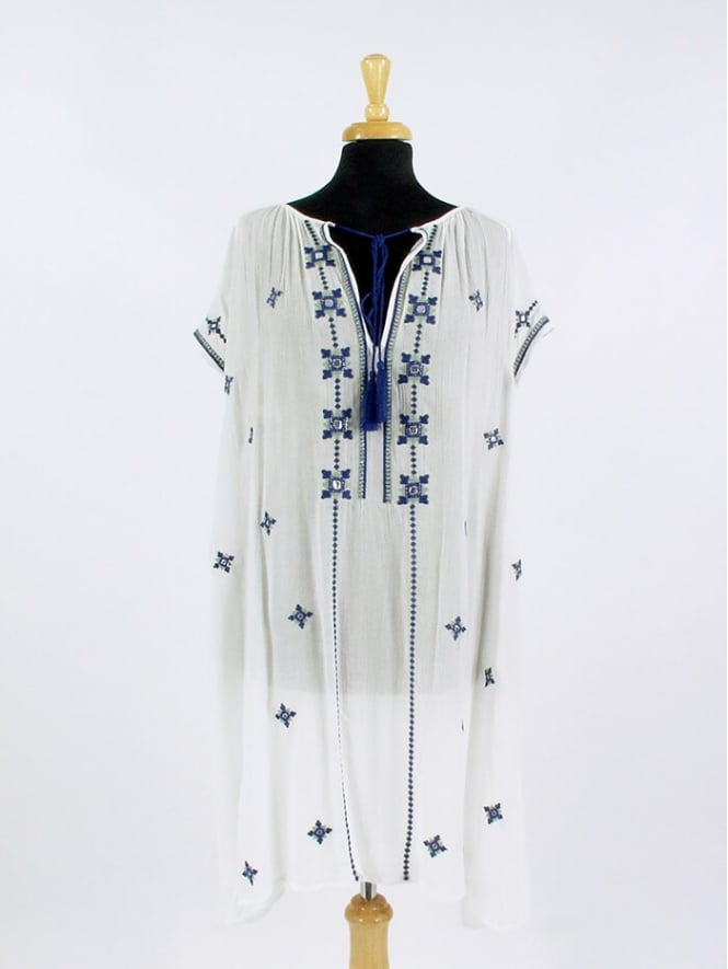 Made in Italy Reed Embroidered Dress