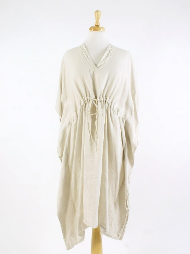 Kit and Kaboodal Made In Italy Rothesay Drawstring Linen Dress