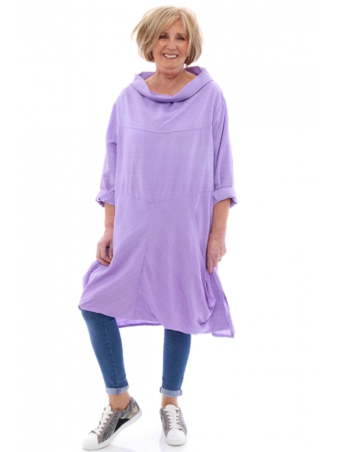 Made in Italy Sally Cowl Neck Tunic