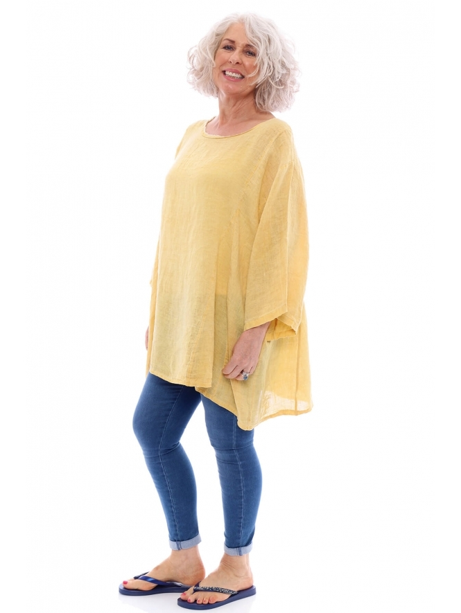 Made in Italy Sanday Washed Linen Tunic