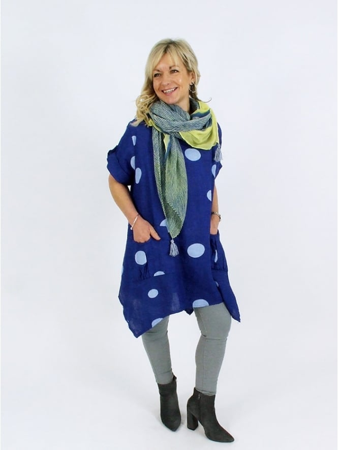 Made in Italy Sandrigo Linen Spot Tunic