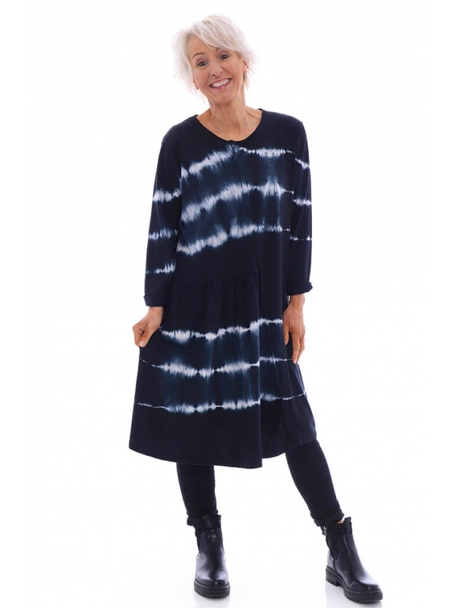 Made in Italy Sarah Tie Dye Tunic Dress