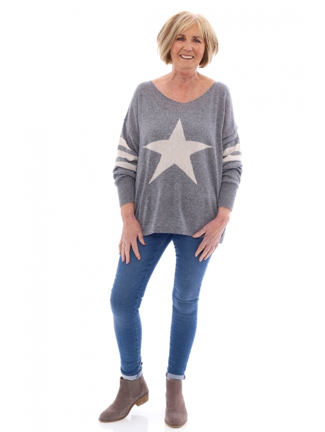 Made in Italy Shenton Star Luxury Wool Mix Jumper