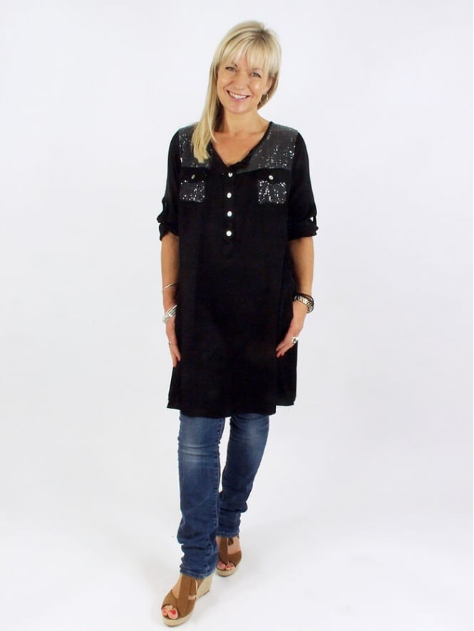 Made in Italy Somerset Sequin Tunic