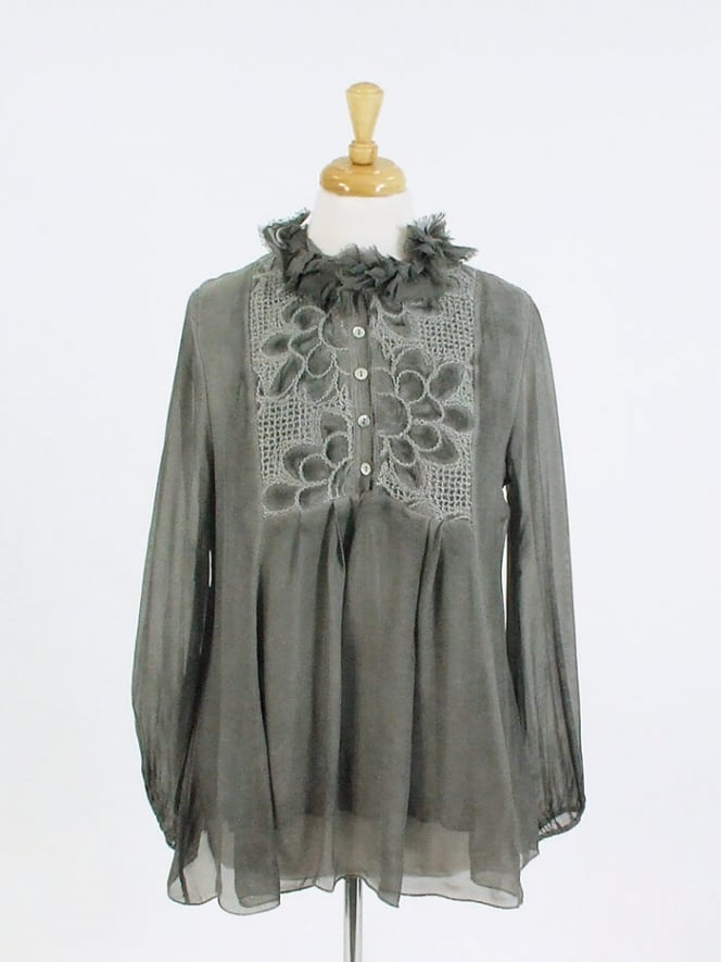 Made in Italy Sorrento Frill Embroidery Top
