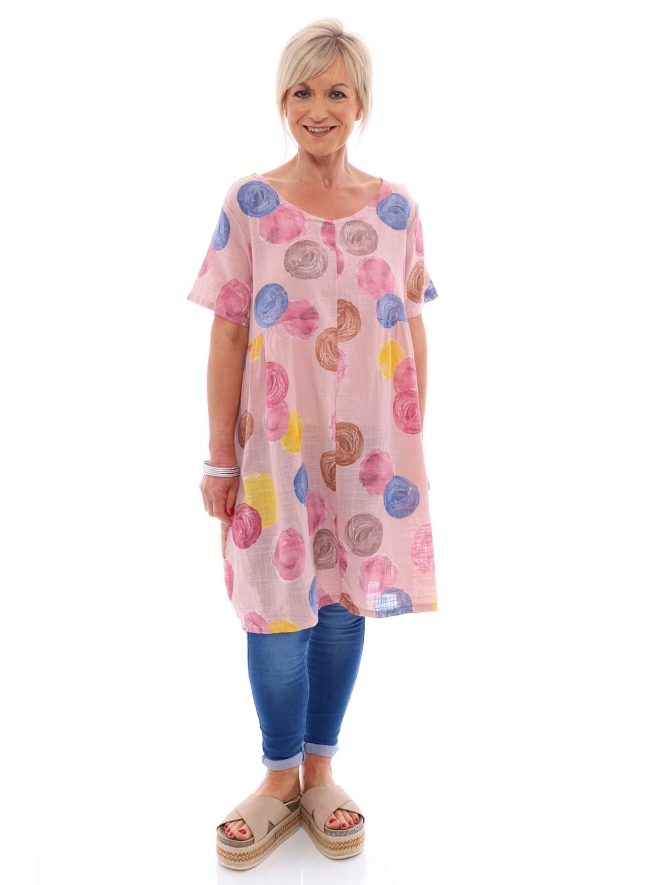 Made in Italy Staithes Spot Cotton Tunic