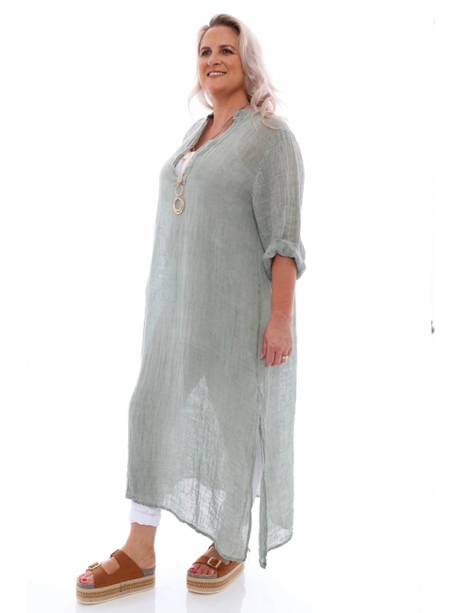Made in Italy Stowe Washed Linen Dress
