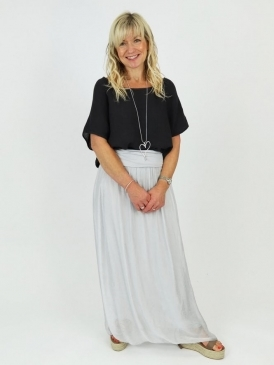 Made in Italy Strozza Silk Skirt