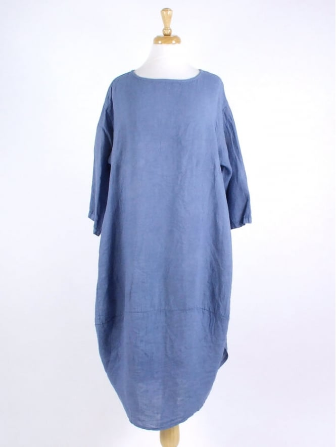 Made In Italy Swanage Long Linen Dress