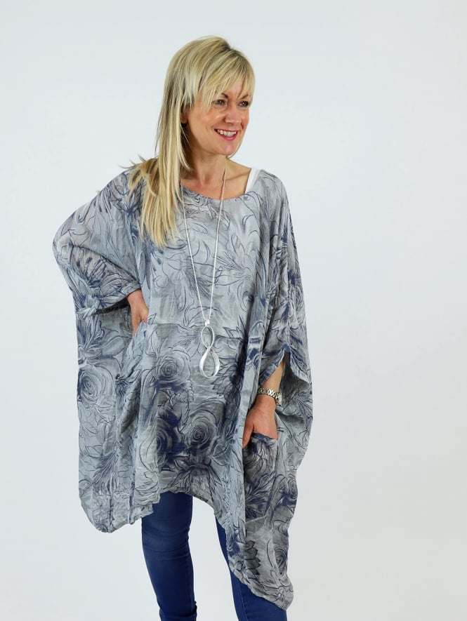 Made in Italy Swinford Botanic Linen Tunic