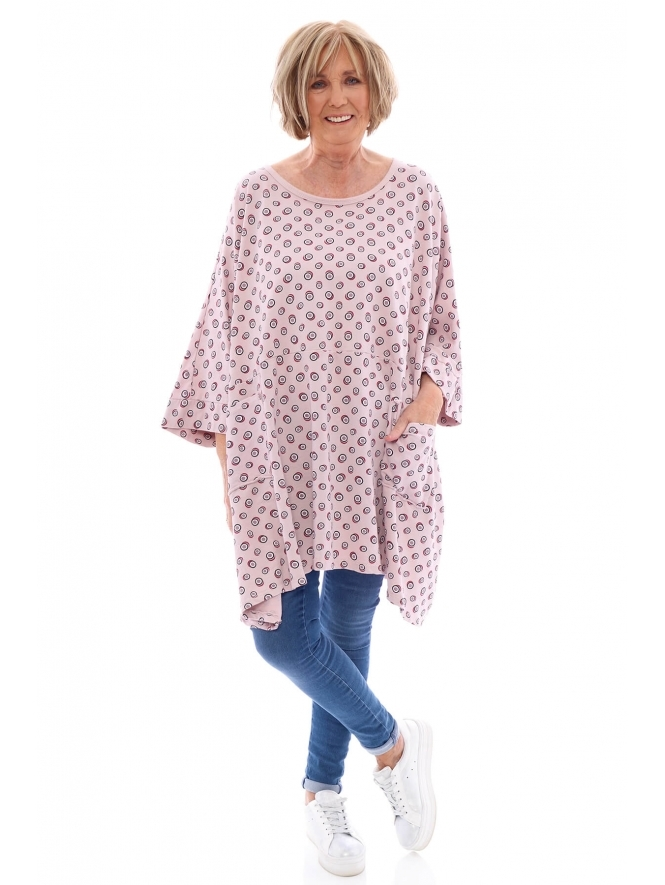 Made in Italy Swinford Spot Jersey Tunic