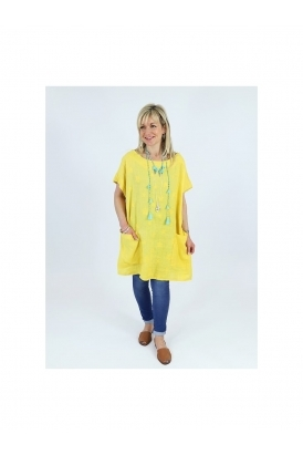 Made in Italy Talla Star Linen Tunic