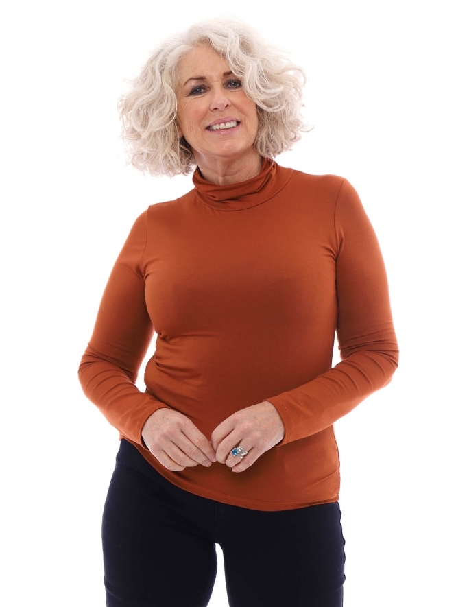 Made in Italy Thaxton Polo Neck Top