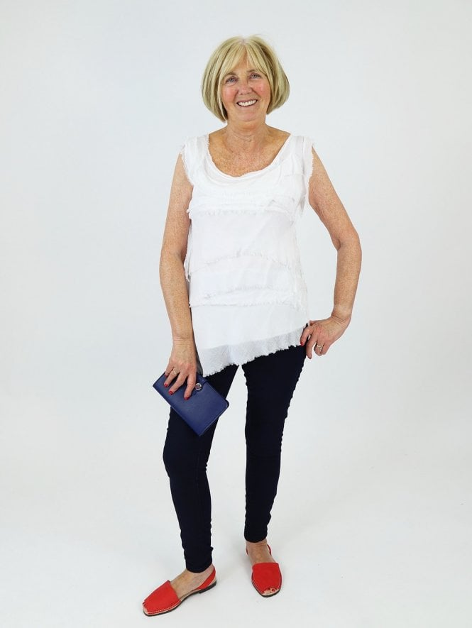 Made in Italy Ventnor Frill Top