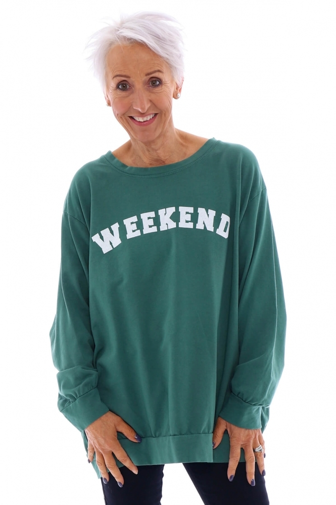 Made in Italy Weekend Jersey Sweat Top