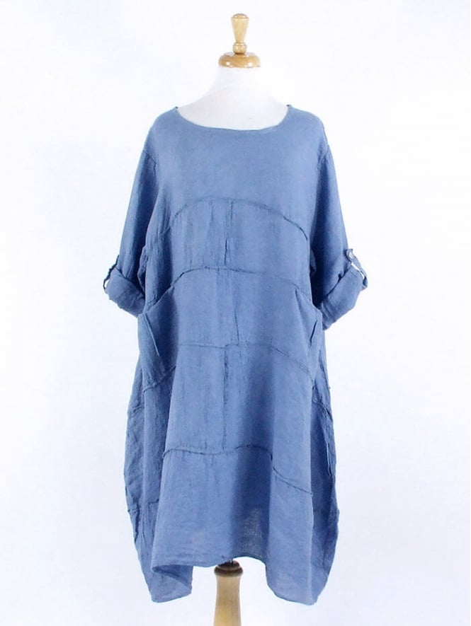Made in Italy Wimpole Linen Tunic Dress