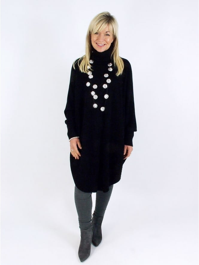 Made in Italy Windsor Poncho Jumper