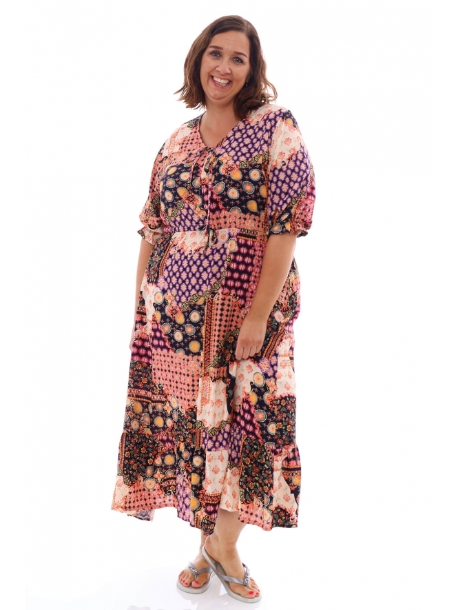 Made in Italy Woodstock Print Dress