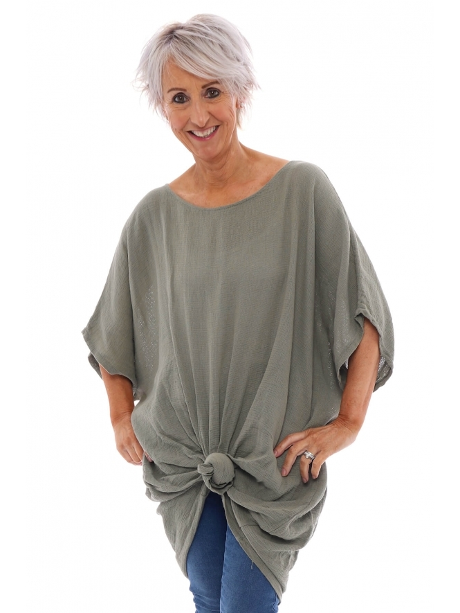 Made in Italy Yardley Knot Cotton Tunic