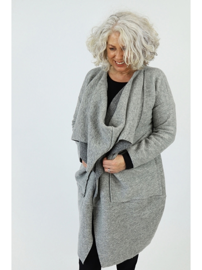Made in Italy Zennor Twist Wool Coat