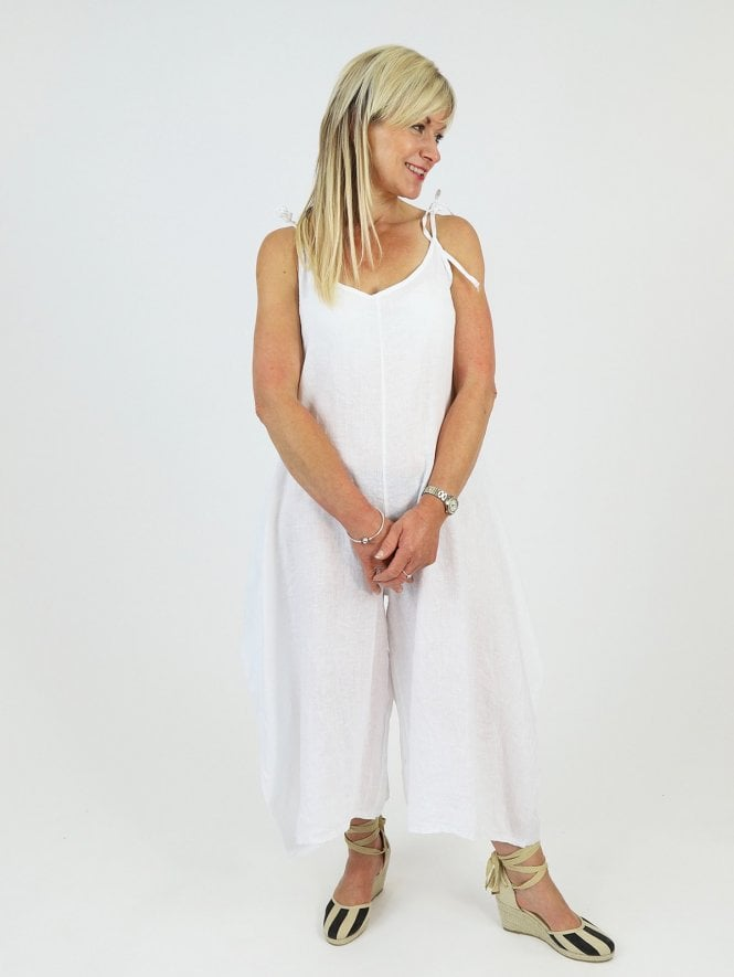 Made in Italy Zimone Linen Jumpsuit