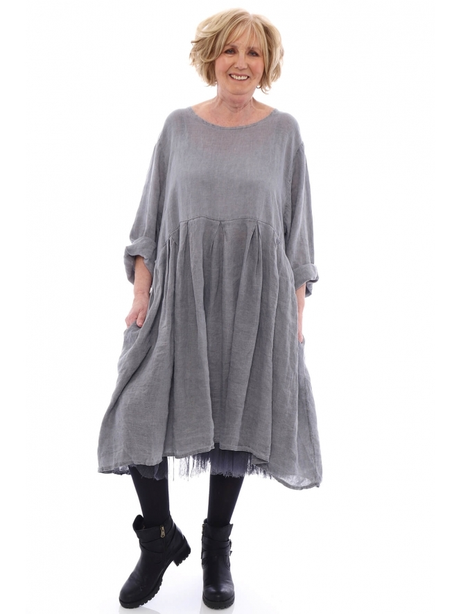 Made in Italy Zouch Premium Washed Linen Dress