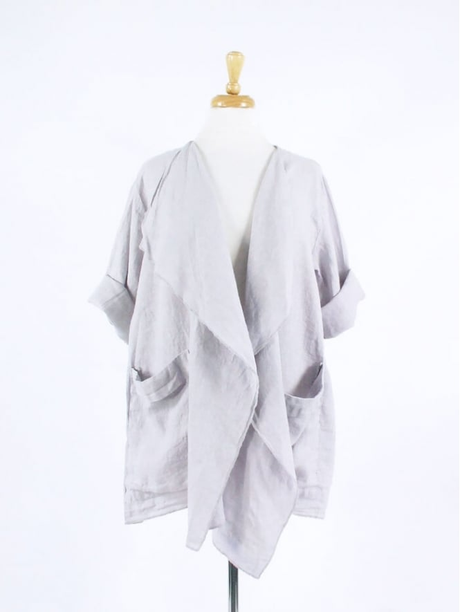 Kit and Kaboodal Made in Watton Draped Linen Jacket